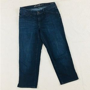 Eddie Bauer curvy capri jeans